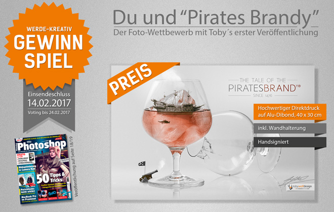 Gewinnspiel - Photoshop - Artworks - Pirates Brandy - #tobywolfdesign #diemissionistmeinziel